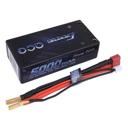Picture of Gens Ace GA5000-2S50--CAR-S-BL Black 5000mAh 7.4v 50C Shorty