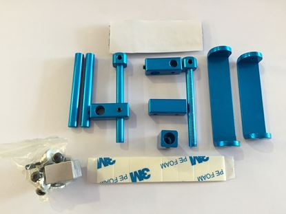 Picture of MST Aluminium Stealth Magnet Body Mounts (Blue)