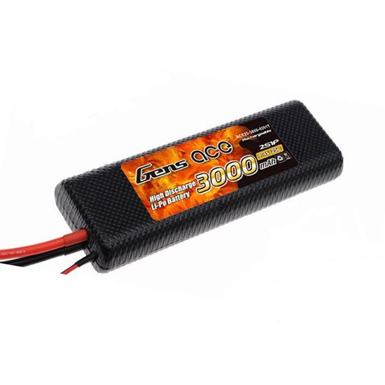 Picture of Gens Ace GA3000-2S25-CAR 3000mAh 7.4V Traditional Shape HS Car