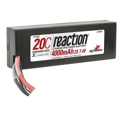 Picture of Dynamite DYN9001EC Reaction 7.4V 4000mAh 2S 20C LiPo Hard Case: