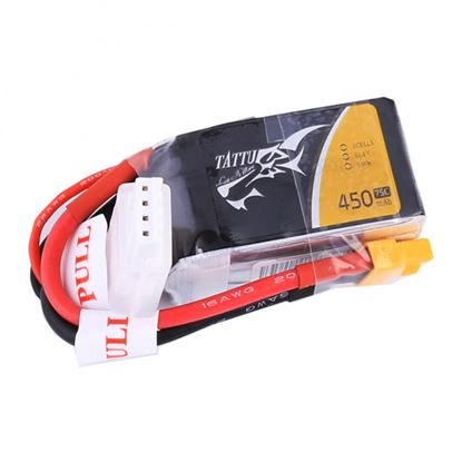 Picture of Tattu 450mAh 11.1V 75C 3S1P Lipo Battery Pack Suit Blade Torrent