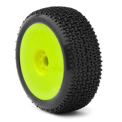 Picture of AKA 14002VRY 1:8 Buggy Cityblock Super Soft Evo Wheel Pre-Mounte