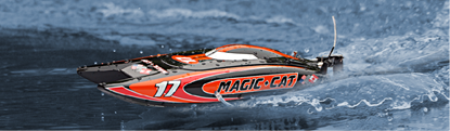 Picture of Joysway J8108 Magic Cat RTR 2.4GHZ Micro Ep Speed Boat
