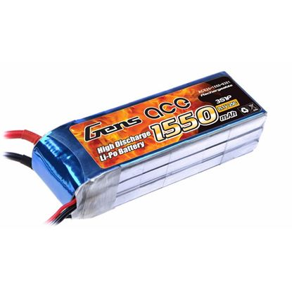 Picture of Gens Ace 1550mAh, 11.1V, 3S1P, 25C With EC3 Plug