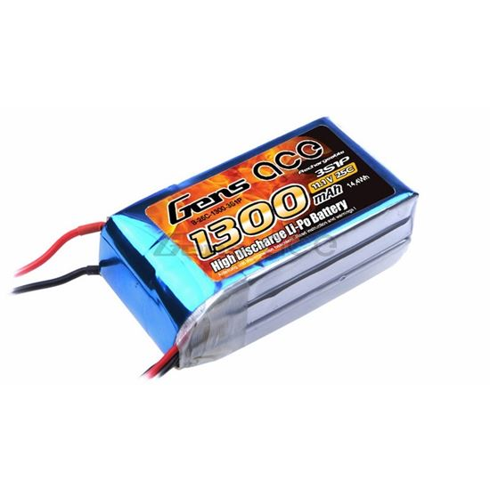 Picture of Gens Ace GA1300-3S25-XT60 1300mAh 3S 11.1V 25C With XT60 Plug