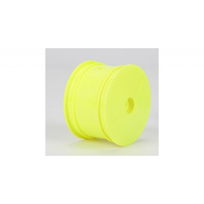 Picture of LOSI TLR7101 Rear Wheel, Yellow (2): 22 & 22-4