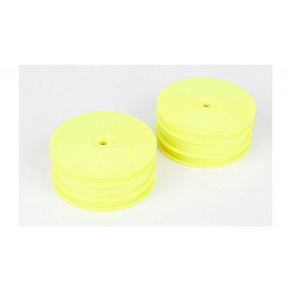Picture of LOSI TLR43004 Front Wheel, Yellow (2): 22-4