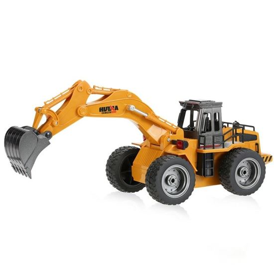 Picture of Huina Toys 1530 2.4G 6Ch RC 1/18 Wheeled Digger