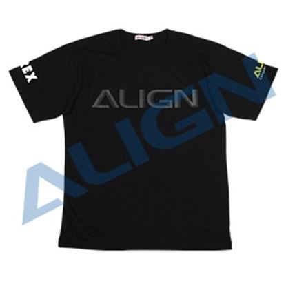 Picture of HOC00219-4 Flying T-shirt (HELI PILOT)-Black (L)