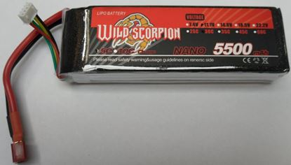 Picture of Wild Scorpion 2S 7.4v 5500mAh 30C XT60 plug
