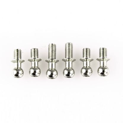 Picture of LC RACING  L6031 Ball Stud Set 6pcs Silver