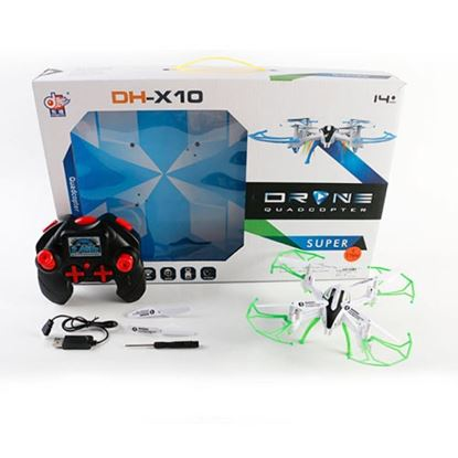 Picture of DH861-X10 QuadCopter Drone, 2.4G, Mode 2, USB Charger