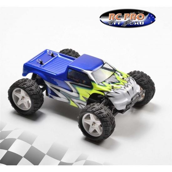 Picture of RCPRO RCPMT18-B 1/18 4WD Brushed Monster Truck- Blue