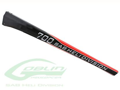 Picture of SAB H9035-S - Carbon Fiber Tail Boom SAB Red/Carbon - 700 Comp/Speed