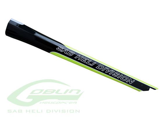 Picture of SAB H0815-S - Carbon Fiber Tail Boom Yellow/Black - Goblin 420 Sport
