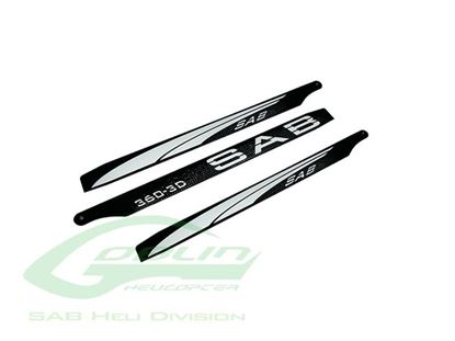Picture of SAB 3BL360-3DW - Black Line Carbon Fiber Main Blades 360mm - Goblin 380 KSE