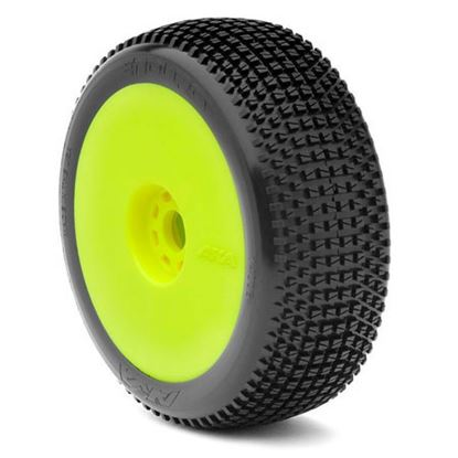 Picture of AKA 14002SRY 1:8 Buggy Cityblock Soft Evo Wheel Pre-Mounted Yellow