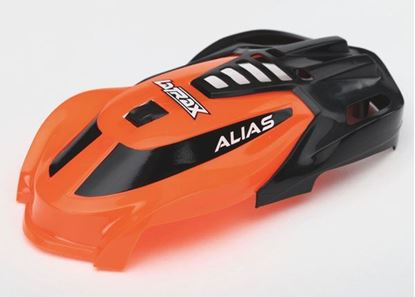 Picture of Traxxas 6613 Canopy, Alias, orange/ 1.6x5mm BCS (self-tapping) (3)