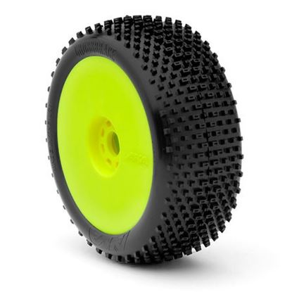 Picture of AKA 14001VRY 1:8 Buggy I-Beam Super Soft Evo Wheel Pre-Mounted Yellow
