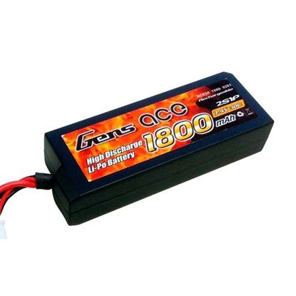 Picture of Gens-Ace GA1800-2S30-CAR 1800mAh 7.4V 2S 30C, Hardcase EC3 Plug