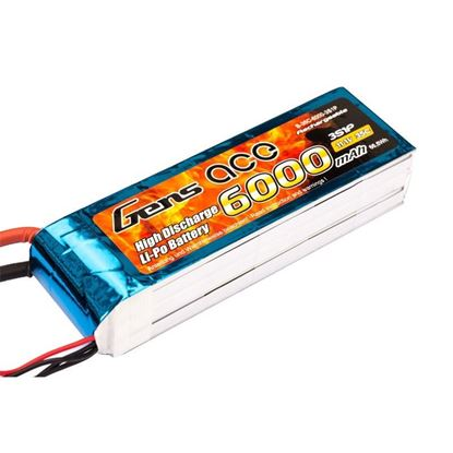 Picture of Gens Ace GA6000-3S35 6000mAh 11.1V 35C Lipo With EC3 Plug