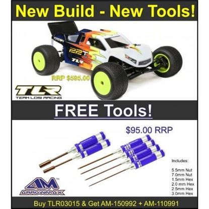 Picture of TLR TRL03015 22T 4.0 1/10 2WD Stadium Truck & FREE Arrowmax hex driver & nut driver set