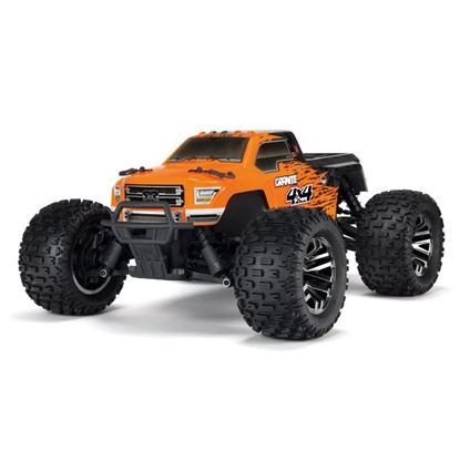 Picture of Arrma ARA102720T1 Granite 1/10 MT 4WD 3S BLX Brushless RTR, Orange/Black