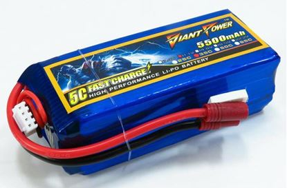 Picture of Giant Power 11.1v 3s 5500mAh 35c Lipo