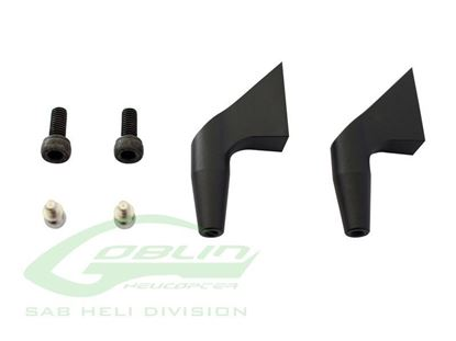 Picture of H0183BM-S - Aluminum Main Blade Grip Arm (New Design) Black Matte - Goblin 700/770