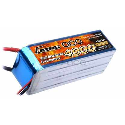 Picture of Gens-Ace 4000mAh, 22.2V, 6S1P, 25C, EC5 Plug