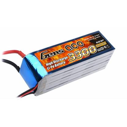Picture of Gens-Ace 3300mAh 6S 22.2v 25C With EC5 Plug