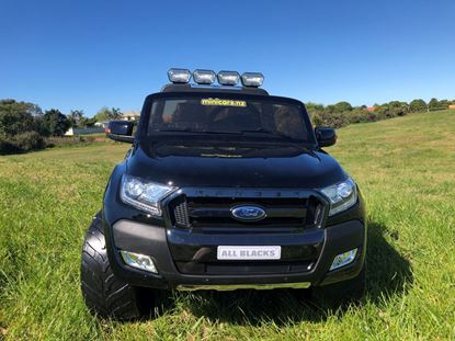 Picture of Mini Cars MCFR01-AB ALL BLACKS 4WD Ford Ranger 2x12v Batteries 2-seater EVA-rubber tyres (2018)