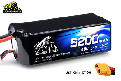 Picture of Leopard Power 6s 22.2v 5200mah 40c XT90 Lipo Battery
