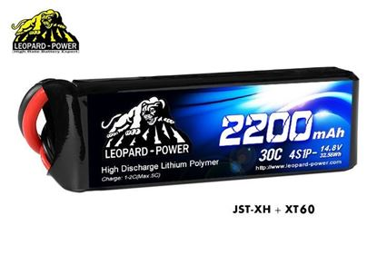 Picture of Leopard Power 4s 14.8v 2200mah 30c XT60 Lipo Battery