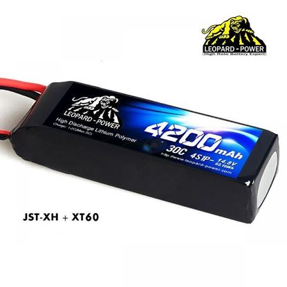 Picture of Leopard Power 4s 14.8v 4200mah 30c XT60 Lipo Battery