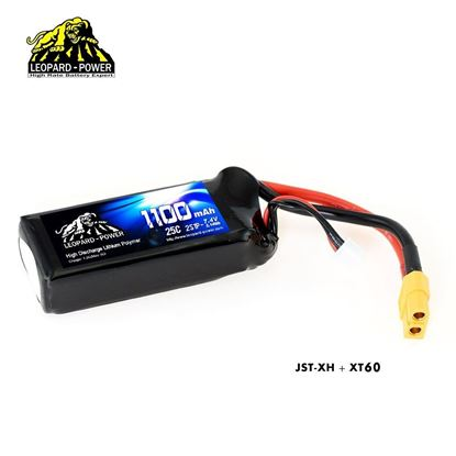 Picture of Leopard Power 2s 7.4v 1100mah 25c Lipo Battery with XT60