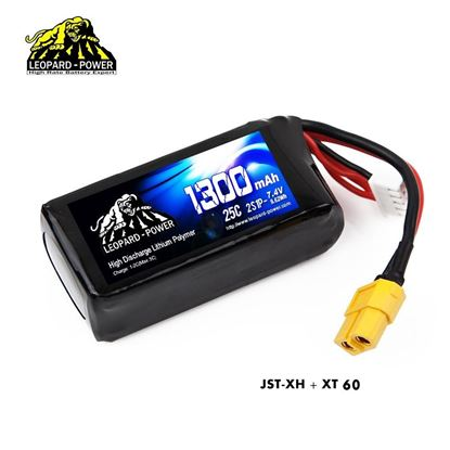 Picture of Leopard Power 2s 7.4v 1300mah 25c Lipo Battery with XT60