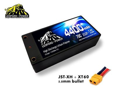 Picture of Leopard Power 2s 7.4v 4400mah 70c Lipo Battery with XT60- Shorty HS