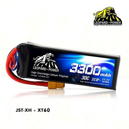 Picture of Leopard Power 3s 11.1v 3300mah 30c XT60 Lipo Battery