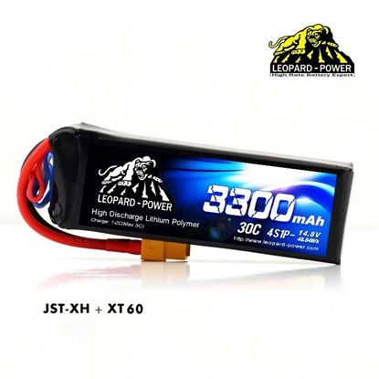 Picture of Leopard Power 4s 14.8v 3300mah 30c XT60 Lipo Battery