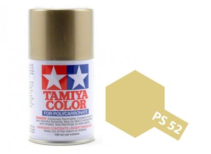 Picture of Tamiya PS-52 Polycarb Spray Paint: Champagne Gold