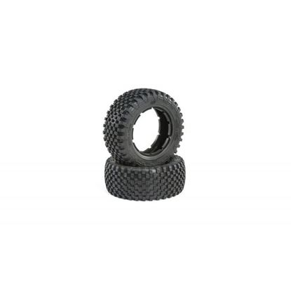 Picture of TLR/LOSI LOS45023 Tire Set, Firm (2): 5ive-T 2.0