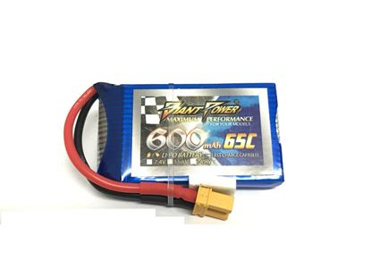 Picture of Giant Power 1S 3.7V 600mah 65c Lipo Battery w/XT30 Plug