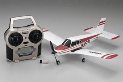 Picture of Kyosho KYO10751RS-R 10654RA Piper Cherokee Red RTR & Christian Eagle PNP Combo