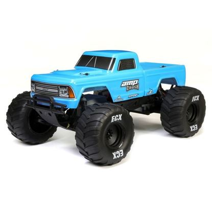 Picture of EXC ECX03048T1 1/10 Amp Crush 2WD Monster Truck Brushed RTR, Blue