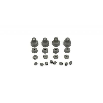 Picture of ECX  ECX1037 Shock Cap, Piston, Pivot Ball Set: 1:10 2wd All