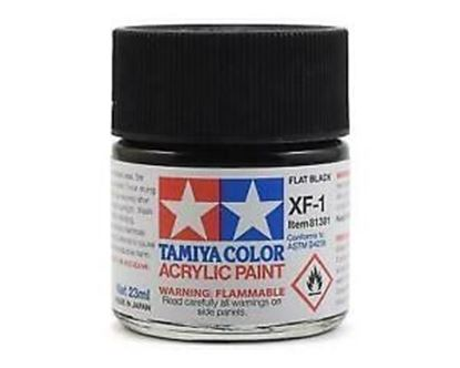 Picture of Tamiya  XF-1 81701 Acrylic 10ML Flat Black