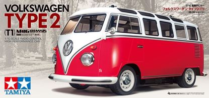 Picture of Tamiya 47420 RC Kit PRE-PAINTED: 1/10 Volkswagen Bus Type 2 (T1) - M-06 Chassis