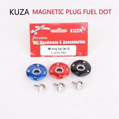 Picture of KUZA KAG0235B Large Scale CNC Alloy magnetic Fuel Dot  1pc (Black)