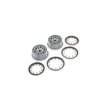 Picture of LOS45022 Wheel & Beadlock Set, Grey (2): 5ive-T 2.0